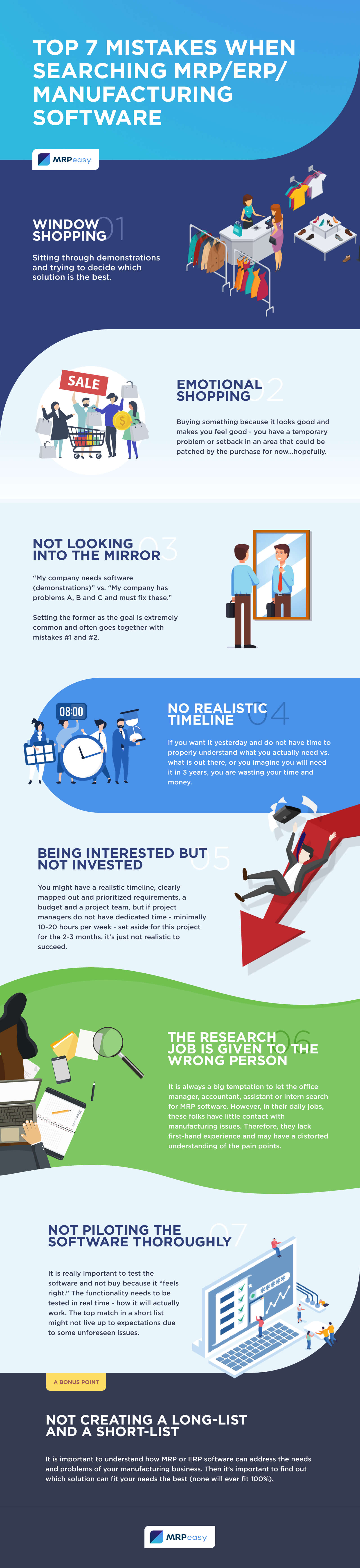 INFOGRAPHIC: Top 7 Mistakes When Searching MRP/ERP Software