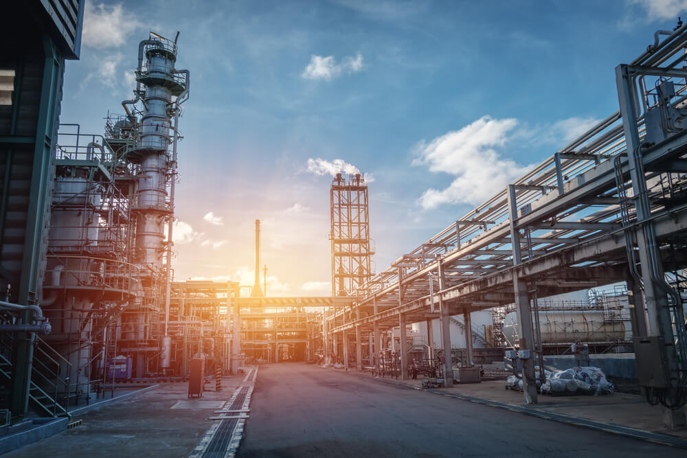 industrial-plant-with-sunset